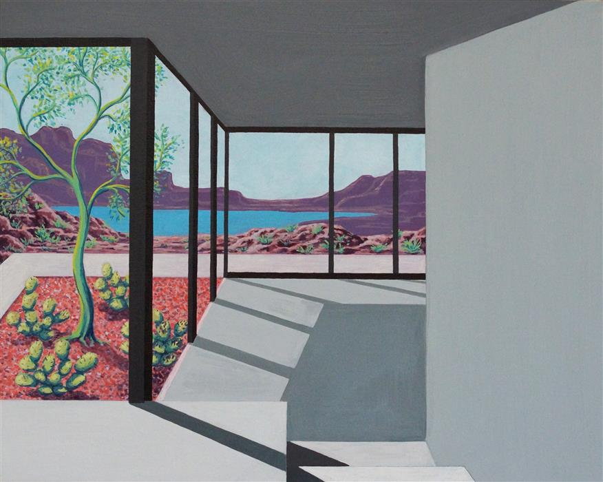 Original art for sale at UGallery.com | Rock Garden (Architected Landscape 17) by JESSICA ECKER | $1,100 | Acrylic painting | 16' h x 20' w | ..\art\acrylic-painting-Rock-Garden-Architected-Landscape-17