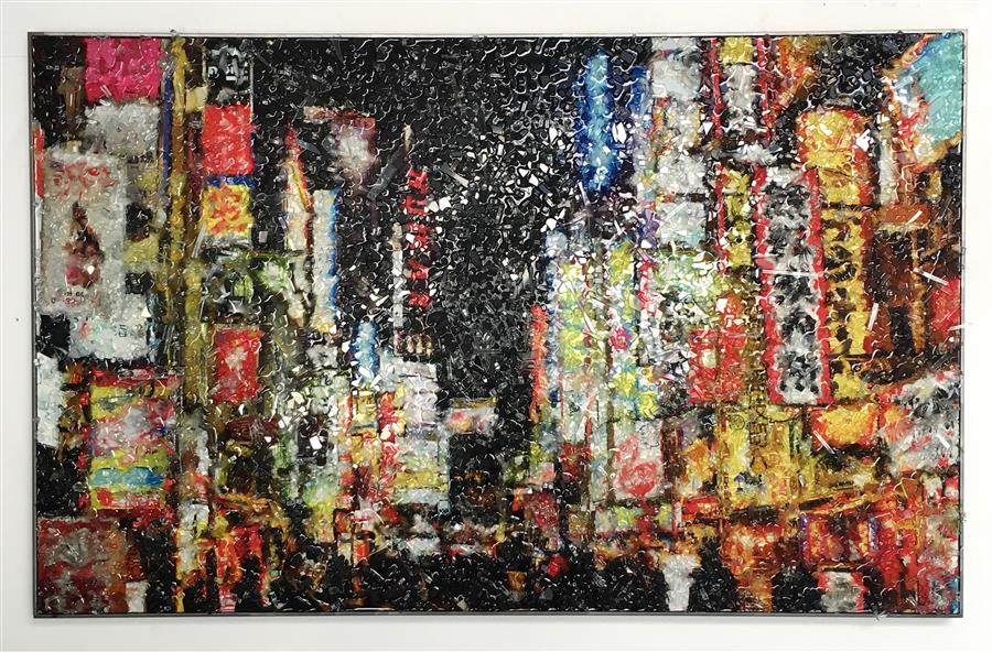 Original art for sale at UGallery.com | Tokyo by JACK R. MESA | $4,275 | Other media | 30' h x 48' w | ..\art\other-media-Tokyo