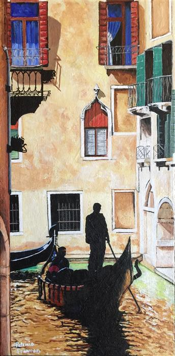 Original art for sale at UGallery.com | The Flooded Streets of Venice by PATRICIA FREEMAN | $475 |  | 20' h x 10' w | ..\art\acrylic-painting-The-Flooded-Streets-of-Venice