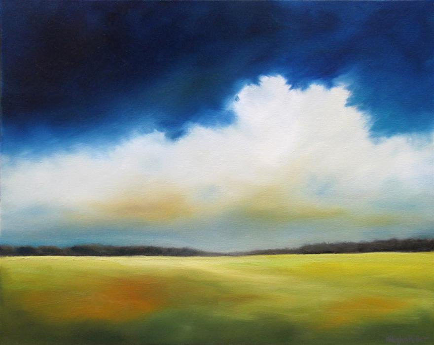 Original art for sale at UGallery.com | Cobalt Sky Cloud by NANCY HUGHES MILLER | $975 | Oil painting | 18.5' h x 22.5' w | ..\art\oil-painting-Cobalt-Sky-Cloud