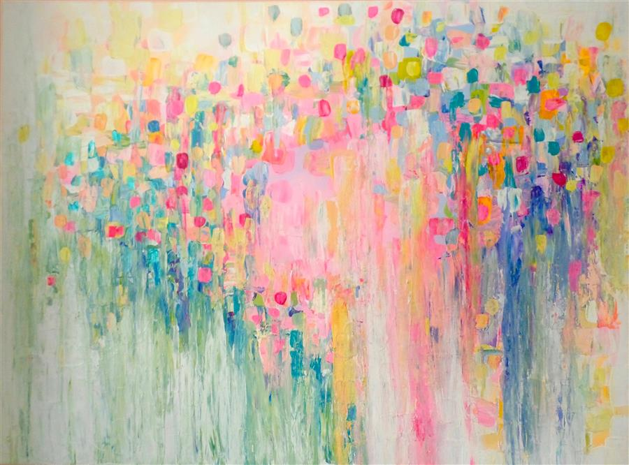 Original art for sale at UGallery.com | Rain or Shine by NATASHA TAYLES | $1,875 | Acrylic painting | 30' h x 40' w | ..\art\acrylic-painting-Rain-or-Shine