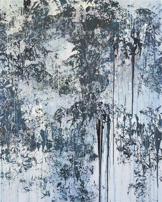 Original art for sale at UGallery.com | White Noise by MARION WOOD | $4,025 | Acrylic painting | 60' h x 48' w | ..\art\acrylic-painting-White-Noise