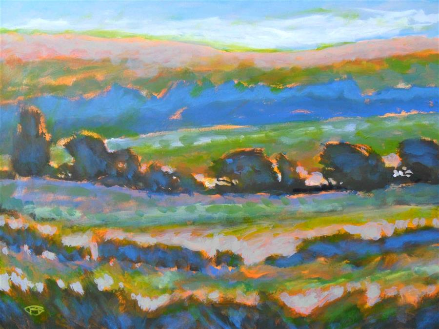 Original art for sale at UGallery.com | Hillside View 2 by KIP DECKER | $2,700 | Acrylic painting | 30' h x 40' w | ..\art\acrylic-painting-Hillside-View-2