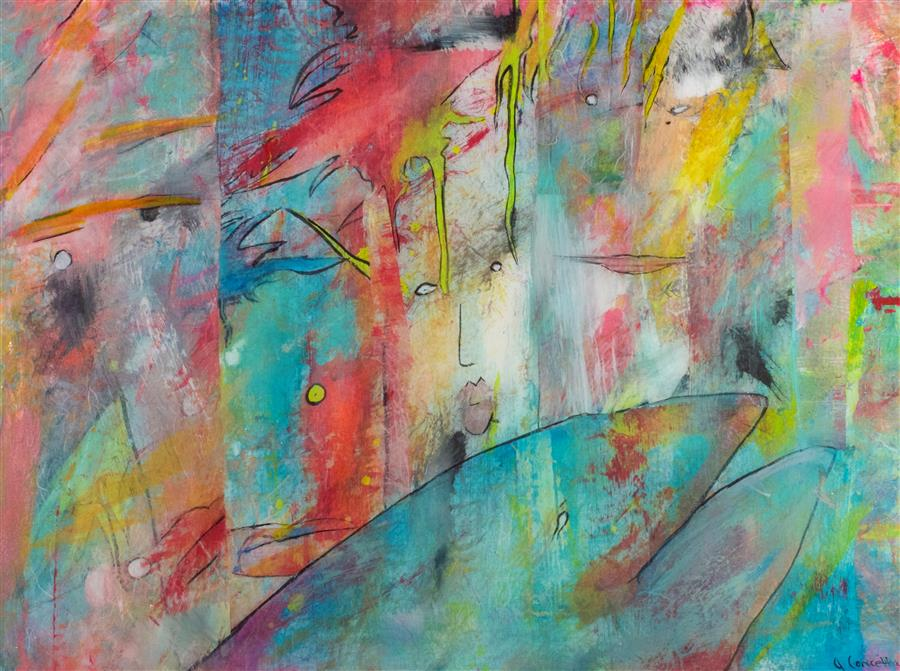 Original art for sale at UGallery.com | Sunny Day by JILL CONCETTA | $925 |  | 18' h x 24' w | ..\art\mixed-media-artwork-Sunny-Day-46403