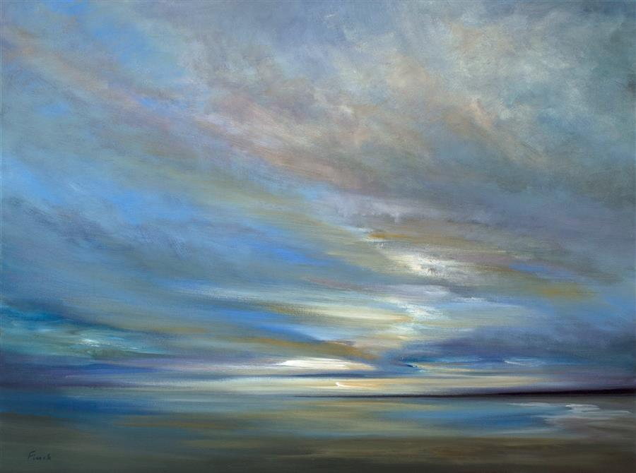Original art for sale at UGallery.com | Coastal Clouds XIV by SHEILA FINCH | $4,375 | Oil painting | 30' h x 40' w | ..\art\oil-painting-Coastal-Clouds-XIV