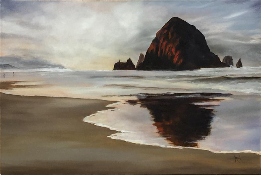 Original art for sale at UGallery.com | Sublime Coast by MANDY MAIN | $1,000 |  | 20' h x 30' w | ..\art\oil-painting-Sublime-Coast