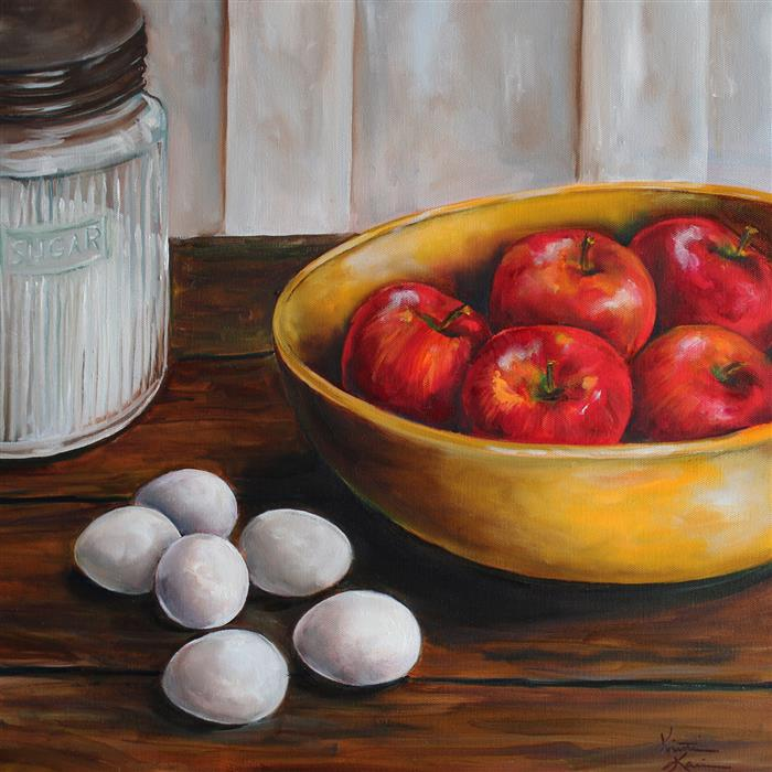Original art for sale at UGallery.com | Baking Day by Kristine Kainer | $1,750 | oil painting | 20' h x 20' w | ..\art\oil-painting-Baking-Day