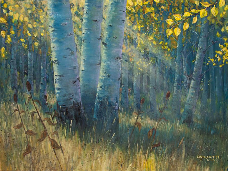 Original art for sale at UGallery.com | Three Sisters - Spirit of the Forest by ROBERT CORSETTI | $1,900 |  | 30' h x 40' w | ..\art\oil-painting-Three-Sisters-Spirit-of-the-Forest