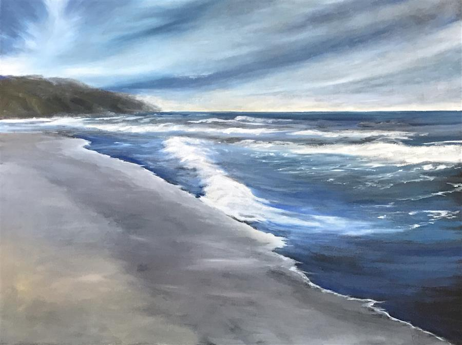 Original art for sale at UGallery.com | Coast XVI by MANDY MAIN | $2,700 | Oil painting | 36' h x 48' w | ..\art\oil-painting-Coast-XVI