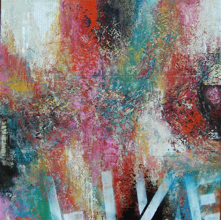 Original art for sale at UGallery.com | Live by JANET HAMILTON | $2,650 |  | 36' h x 36' w | ..\art\oil-painting-Live