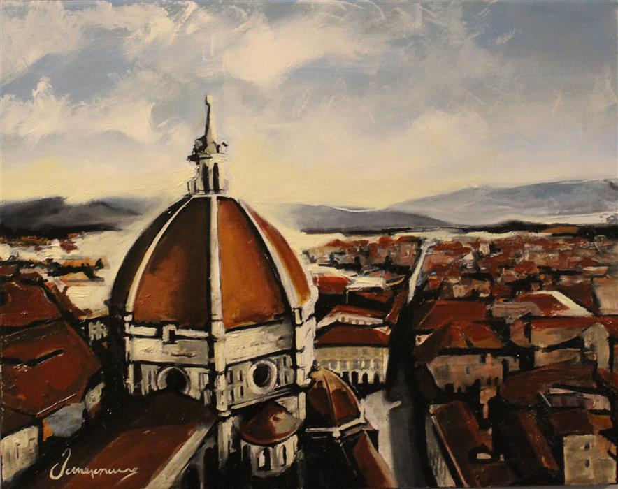Original art for sale at UGallery.com | Florence by NEDIM OMERCAUSEVIC | $600 |  | 15' h x 19' w | ..\art\oil-painting-Florence-47259