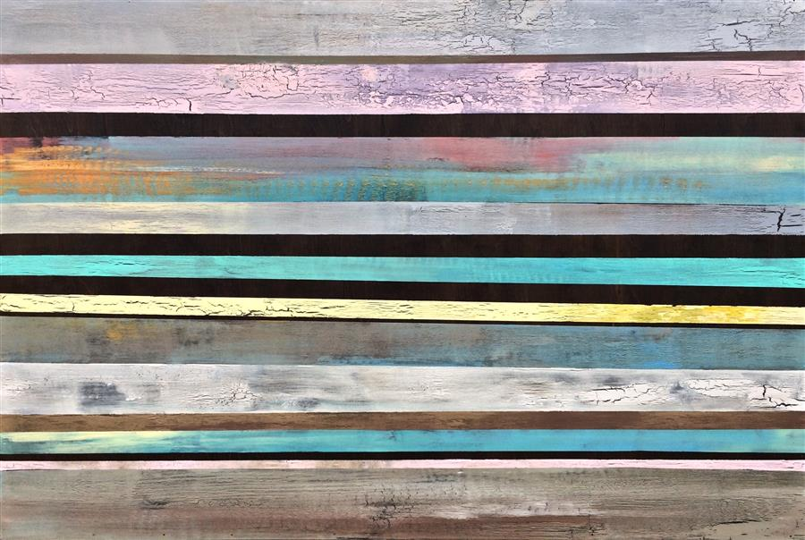 Original art for sale at UGallery.com | Rustic Continuum by ALICIA DUNN | $2,300 |  | 32' h x 48' w | ..\art\acrylic-painting-Rustic-Continuum
