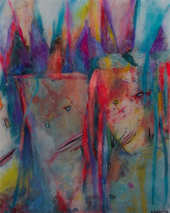 Original art for sale at UGallery.com | Knowing by JILL CONCETTA | $825 |  | 20' h x 16' w | ..\art\mixed-media-artwork-Knowing