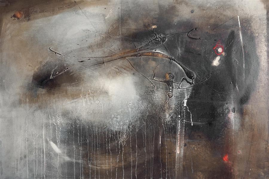 Original art for sale at UGallery.com | Igual by ADRIANO RIBEIRO | $2,050 |  | 31' h x 47' w | ..\art\mixed-media-artwork-Igual