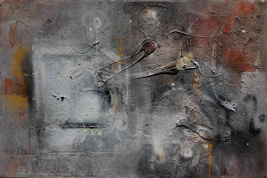Original art for sale at UGallery.com | Quantum by ADRIANO RIBEIRO | $2,050 |  | 31' h x 47' w | ..\art\mixed-media-artwork-Quantum