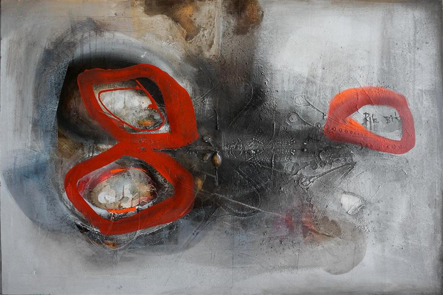 Original art for sale at UGallery.com | Will Stay by ADRIANO RIBEIRO | $2,050 |  | 31' h x 47' w | ..\art\mixed-media-artwork-Will-Stay
