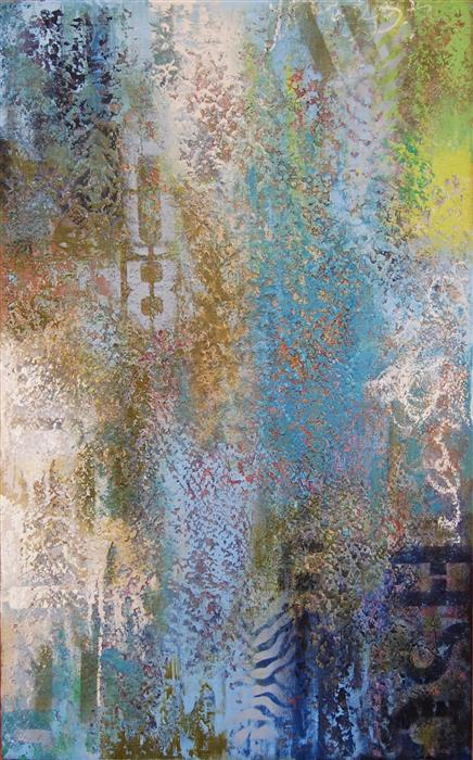 Original art for sale at UGallery.com | HU8 by JANET HAMILTON | $2,125 | Mixed media artwork | 48' h x 24' w | ..\art\mixed-media-artwork-HU8