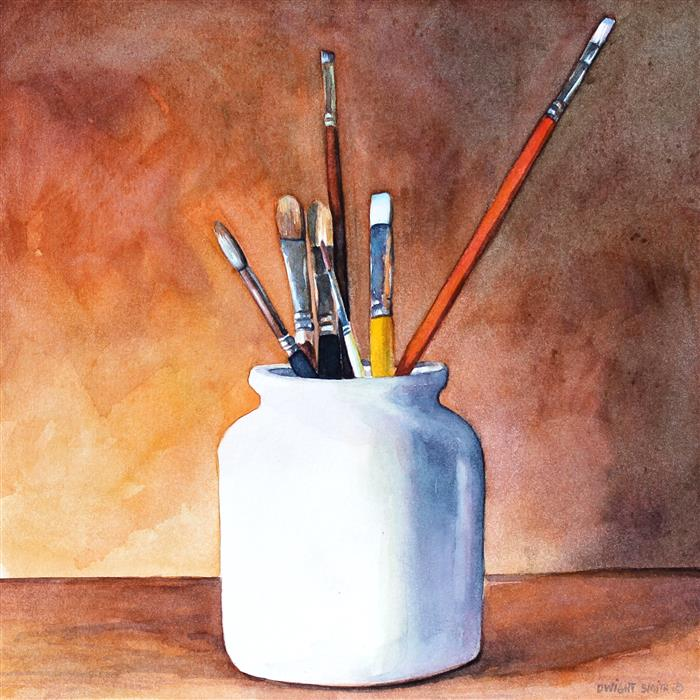 Original art for sale at UGallery.com | Tools by DWIGHT SMITH | $325 |  | 8' h x 8' w | ..\art\watercolor-painting-Tools