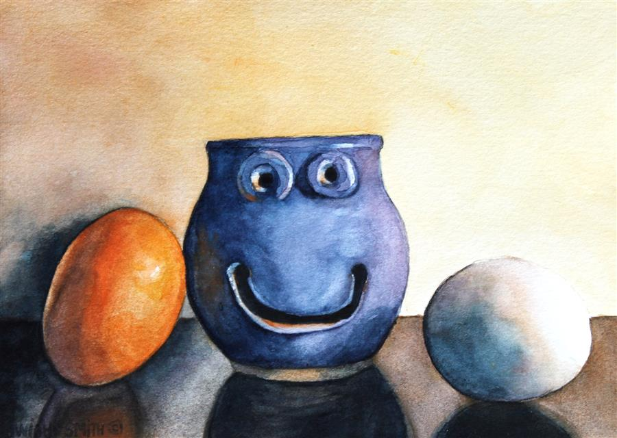Original art for sale at UGallery.com | The Egg Separator by DWIGHT SMITH | $225 |  | 4' h x 6' w | ..\art\watercolor-painting-The-Egg-Separator
