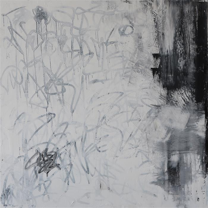 Original art for sale at UGallery.com | Muted by MIA TARDUCCI | $5,175 | Oil painting | 48' h x 48' w | ..\art\oil-painting-Muted