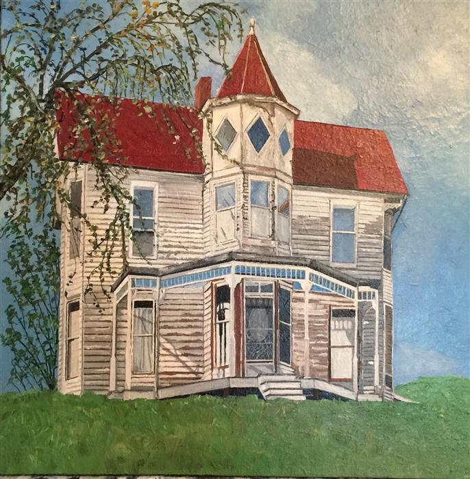 Original art for sale at UGallery.com | The House That Wished to Be a Home II by PATRICIA FREEMAN | $650 |  | 20' h x 20' w | ..\art\acrylic-painting-The-House-That-Wished-to-Be-a-Home-II