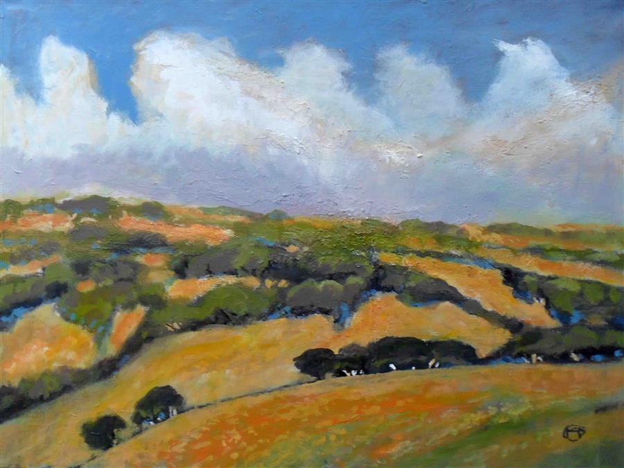 Original art for sale at UGallery.com | California Foothills by KIP DECKER | $2,900 |  | 30' h x 40' w | ..\art\acrylic-painting-California-Foothills