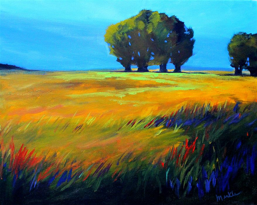 Original art for sale at UGallery.com | Oak Meadow by NANCY MERKLE | $675 |  | 16' h x 20' w | ..\art\acrylic-painting-Oak-Meadow