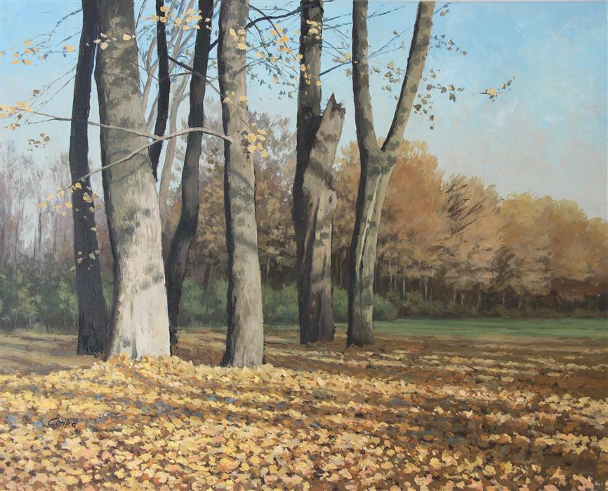 Original art for sale at UGallery.com | Autumn Trees by STEFAN CONKA | $1,650 |  | 23.7' h x 29.6' w | ..\art\oil-painting-Autumn-Trees