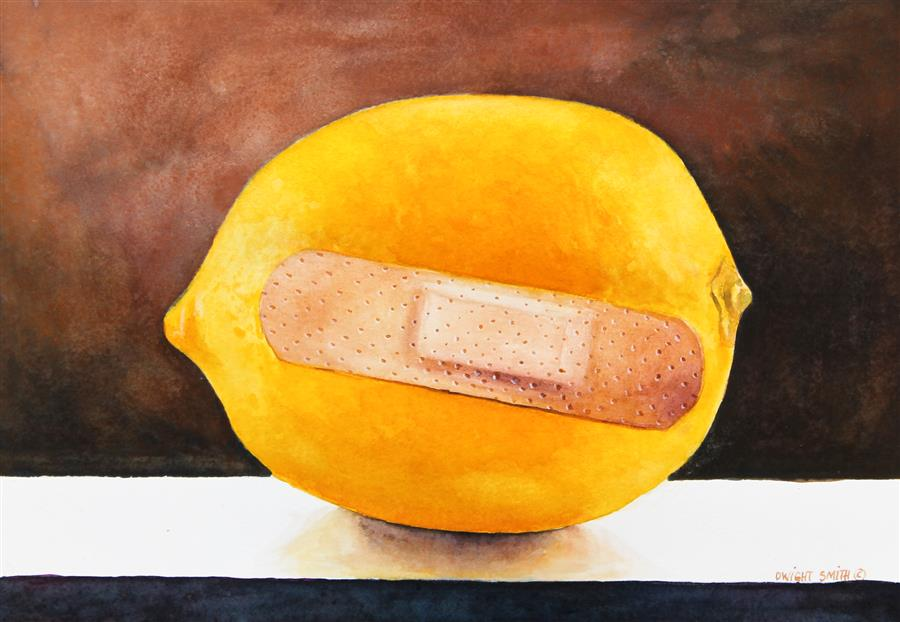 Original art for sale at UGallery.com | Lemon Aid by DWIGHT SMITH | $275 |  | 7' h x 10' w | ..\art\watercolor-painting-Lemon-Aid