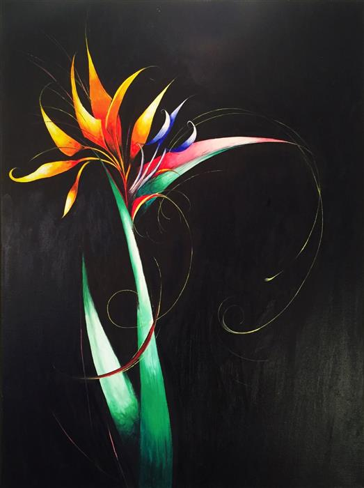 Original art for sale at UGallery.com | Bird of Paradise Flower by SUMNER CRENSHAW | $525 |  | 24' h x 18' w | ..\art\oil-painting-Bird-of-Paradise-Flower-47853
