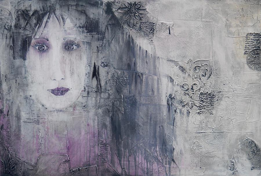 Original art for sale at UGallery.com | Vanished by LAURA CARTER | $1,450 |  | 24' h x 36' w | ..\art\acrylic-painting-Vanished