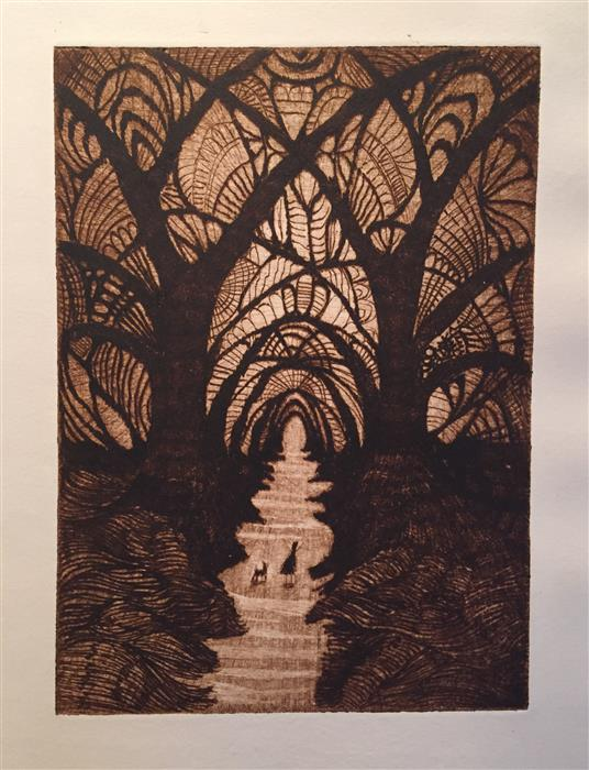 Original art for sale at UGallery.com | The Cathedral by DOUG LAWLER | $325 |  | 10' h x 8' w | ..\art\printmaking-The-Cathedral