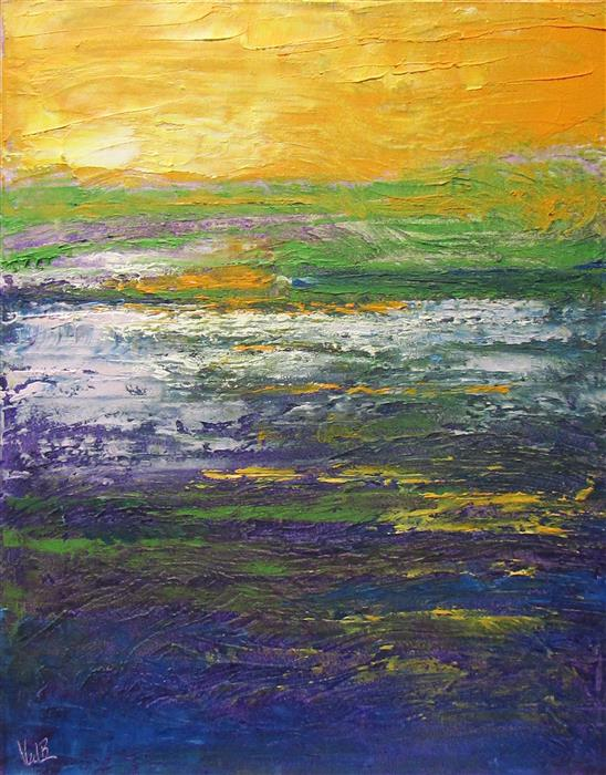 Original art for sale at UGallery.com | Silent Sunlight by Valerie Berkely | $325 | oil painting | 14' h x 11' w | ..\art\oil-painting-Silent-Sunlight