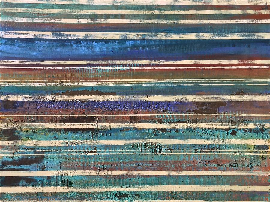 Original art for sale at UGallery.com | The Details are Washed Away from Memory by ALICIA DUNN | $2,525 | Mixed media artwork | 36' h x 48' w | ..\art\mixed-media-artwork-The-Details-are-Washed-Away-from-Memory
