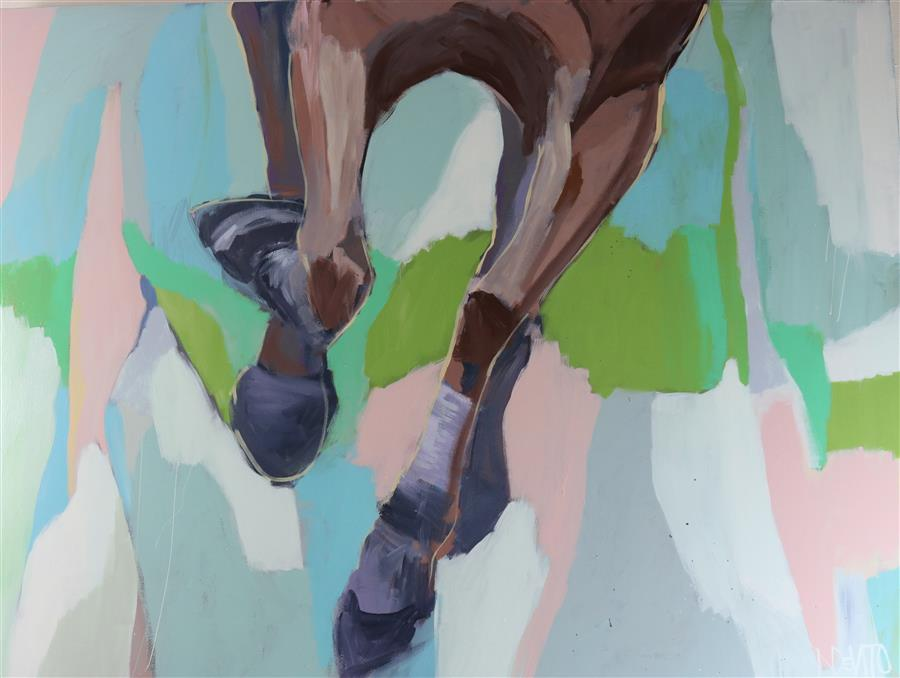 Original art for sale at UGallery.com   Belmont by Lesli DeVito   $4,825   acrylic painting   36' h x 48' w   ..\art\acrylic-painting-Belmont
