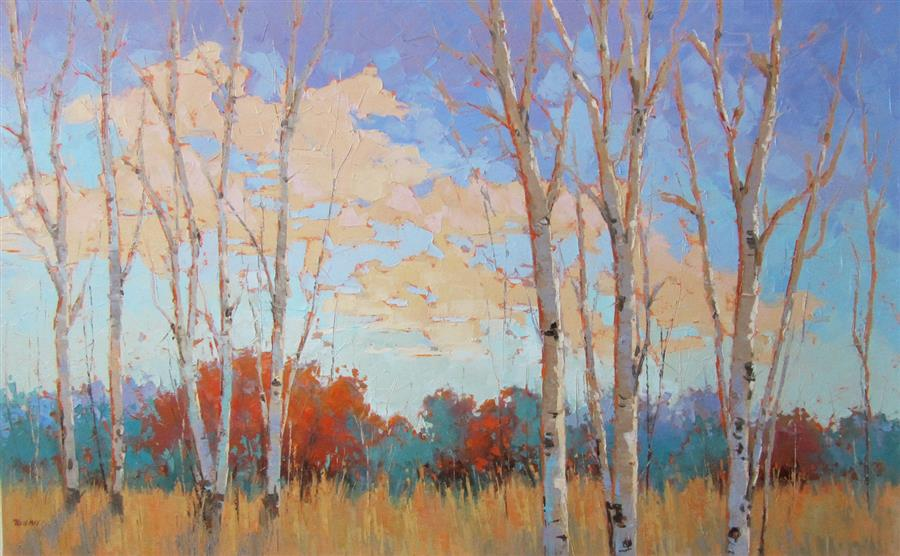 Original art for sale at UGallery.com | A New Day by TRICIA MAY | $3,800 |  | 30' h x 48' w | ..\art\oil-painting-A-New-Day-50083