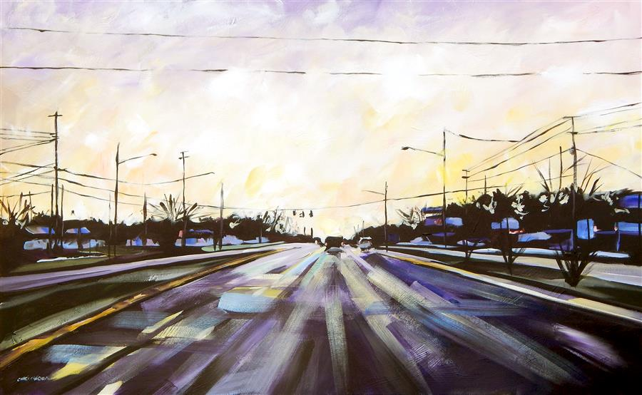 Original art for sale at UGallery.com | Heading East by Chris Wagner | $3,100 | acrylic painting | 30' h x 48' w | ..\art\acrylic-painting-Heading-East