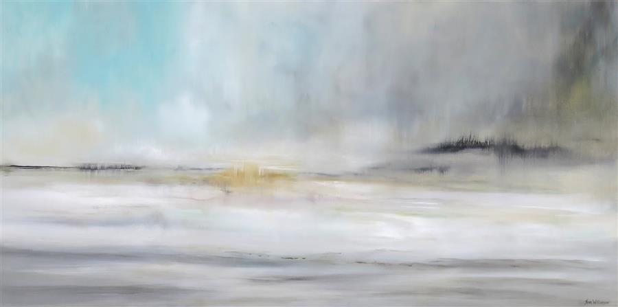 Original art for sale at UGallery.com | Season of Reflection II by JENN WILLIAMSON | $1,675 |  | 24' h x 48' w | ..\art\acrylic-painting-Season-of-Reflection-II