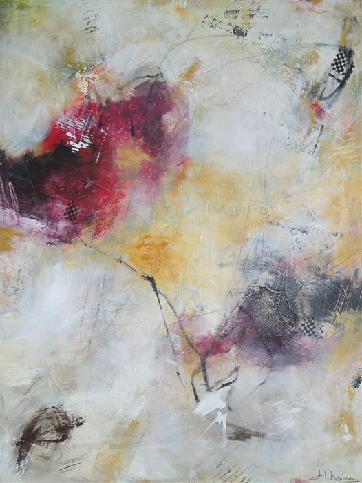 Original art for sale at UGallery.com | Discover I by HILMA KOELMAN | $2,725 | Mixed media artwork | 48' h x 36' w | ..\art\mixed-media-artwork-Discover-I