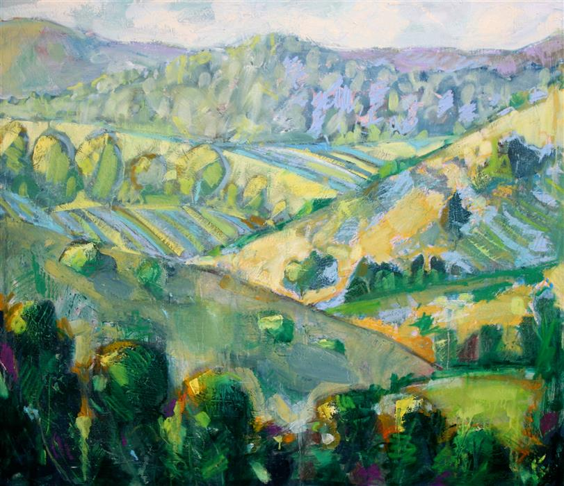 Original art for sale at UGallery.com | Carmel Valley by JAMES HARTMAN | $4,675 |  | 42' h x 48' w | ..\art\oil-painting-Carmel-Valley
