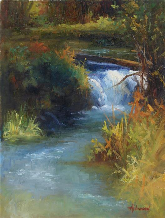 Original art for sale at UGallery.com | Little Colorado Waterfall by SHERRI ALDAWOOD | $525 |  | 16' h x 12' w | ..\art\oil-painting-Little-Colorado-Waterfall