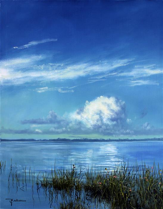 Original art for sale at UGallery.com | Calm Waters by KENT SULLIVAN | $1,300 |  | 20' h x 16' w | ..\art\oil-painting-Calm-Waters
