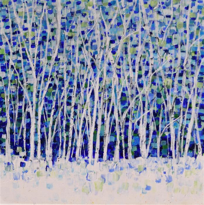 Original art for sale at UGallery.com | Wintertime by Tamara Gonda | $550 | acrylic painting | 12' h x 12' w | ..\art\acrylic-painting-Wintertime