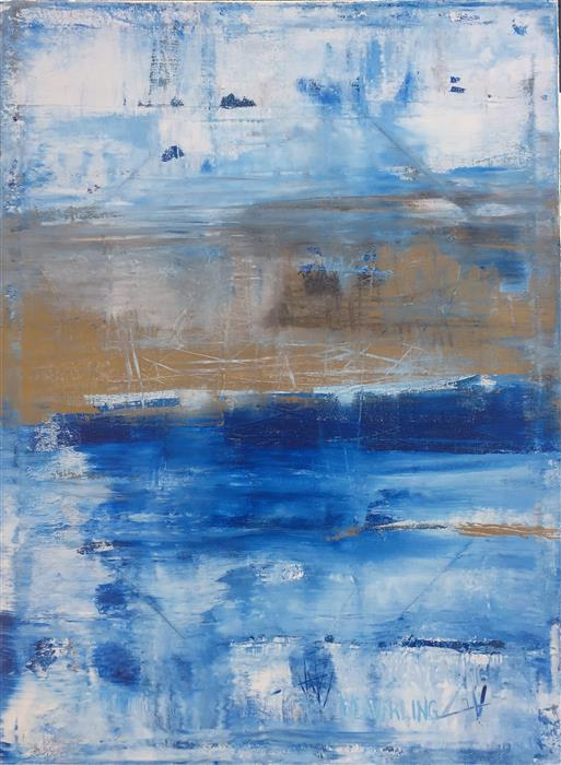 Original art for sale at UGallery.com | Stormy by Julie Weaverling | $1,925 | acrylic painting | 40' h x 30' w | ..\art\acrylic-painting-Stormy-48520