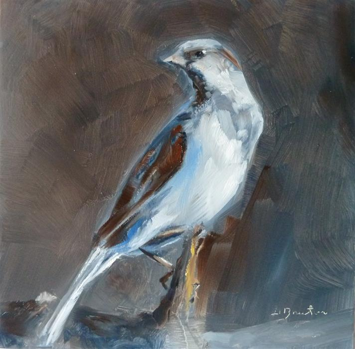Original art for sale at UGallery.com | Sparrow by GARY BRUTON | $525 |  | 8' h x 8' w | ..\art\oil-painting-Sparrow