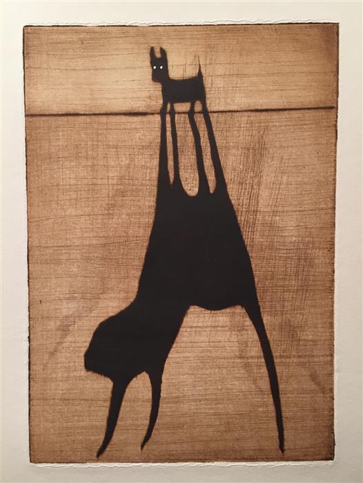 Original art for sale at UGallery.com   Big Dog - Island of ZA by Doug Lawler   $325   printmaking   10' h x 8' w   ..\art\printmaking-Big-Dog-Island-of-ZA