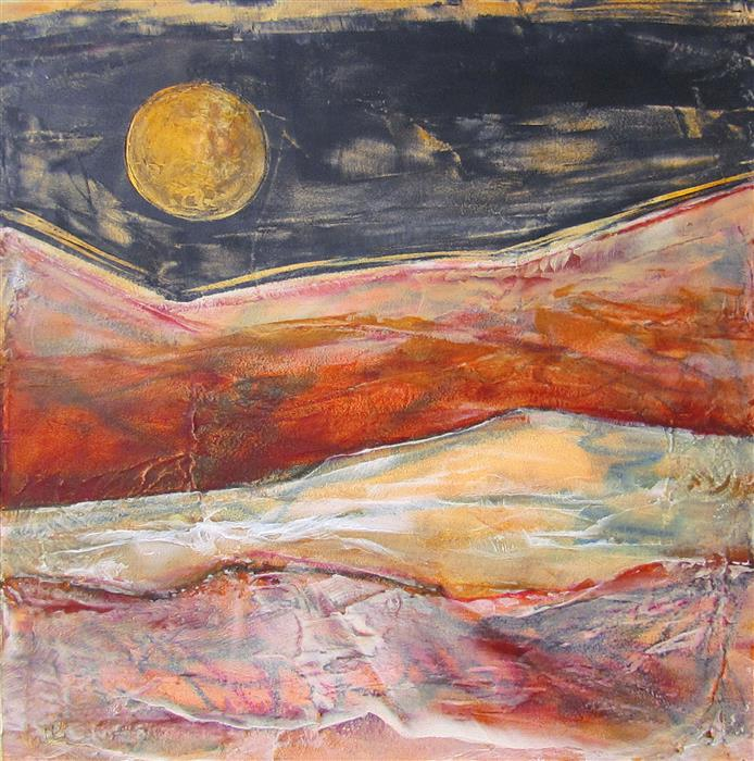 Original art for sale at UGallery.com | Jasper Moon by VALERIE BERKELY | $325 | Oil painting | 12' h x 12' w | ..\art\oil-painting-Jasper-Moon