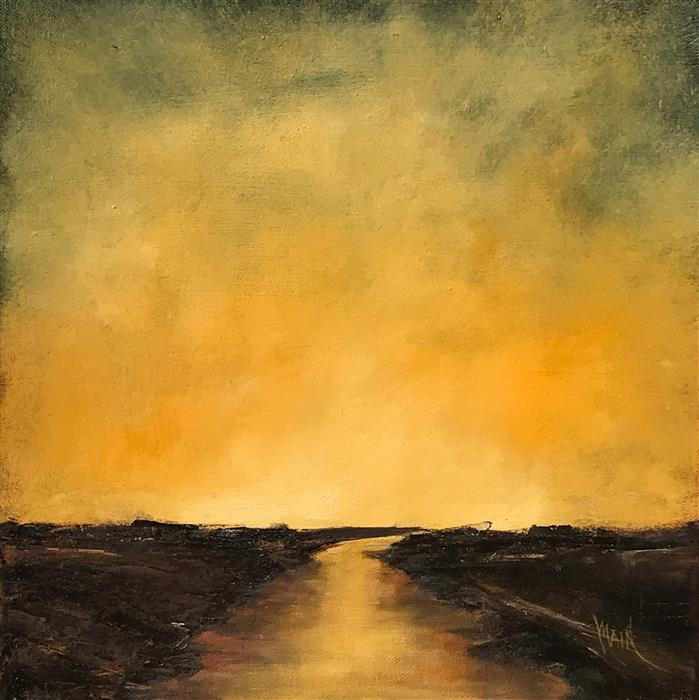 Original art for sale at UGallery.com | Golden Twilight II by MANDY MAIN | $525 | Oil painting | 12' h x 12' w | ..\art\oil-painting-Golden-Twilight-II