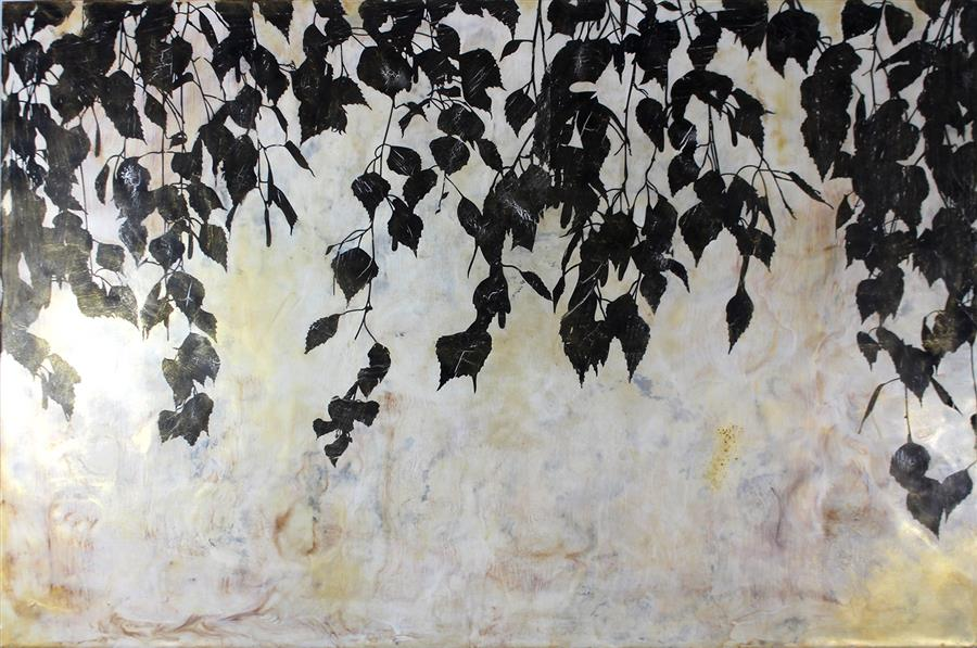 Original art for sale at UGallery.com | Hanging Garden by SHANNON AMIDON | $2,000 |  | 24' h x 36' w | ..\art\encaustic-artwork-Hanging-Garden