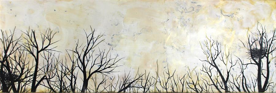 Original art for sale at UGallery.com | Wishing for More Time by SHANNON AMIDON | $1,275 |  | 12' h x 36' w | ..\art\encaustic-artwork-Wishing-for-More-Time